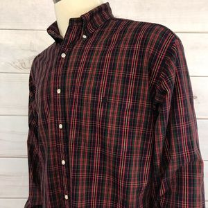 Polo Ralph Lauren Shirt Size L Big Tall Red Plaid